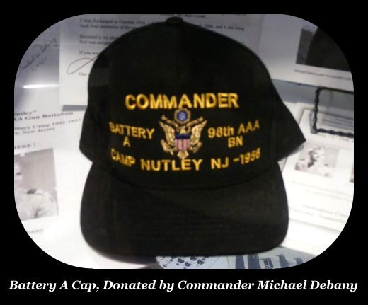 Camp Nutley Commander Cap in Ann A. Troy Gallery of Nutley Museum
