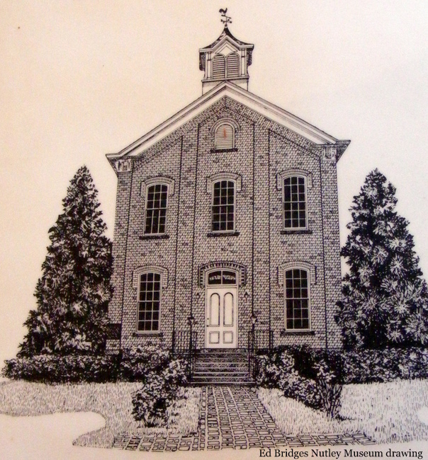 Nutley Museum drawing by Ed Bridges, Nutley, NJ