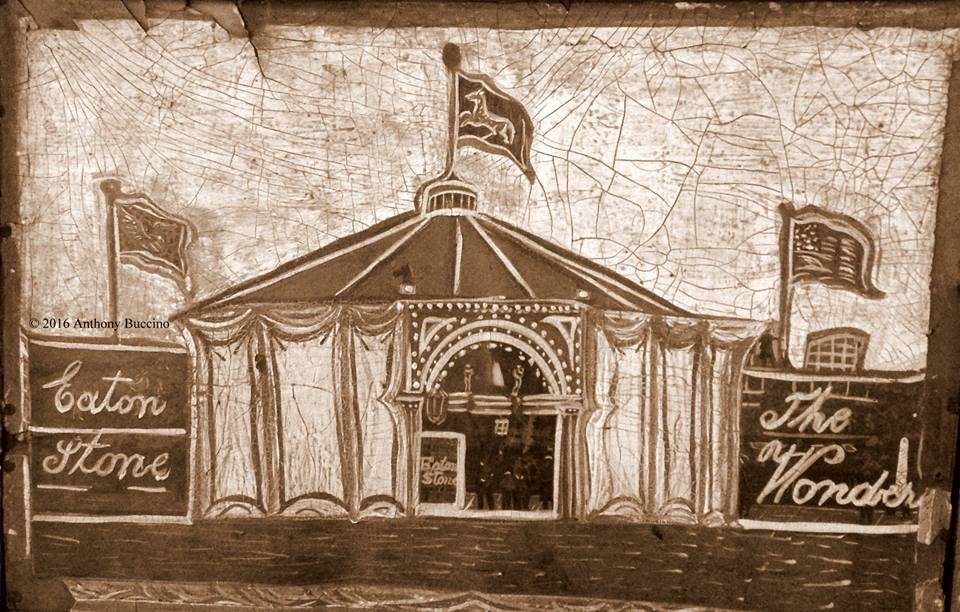 Eaton Stone Circus tent photo of display at Nutley Museum - by Anthony Buccino
