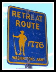 Gen. George Washington retreat route along Passaic River